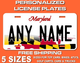 BRGiftShop Personalize Your Own Mixed USA and Norway Flag Car Vehicle 6x12 License Plate Auto Tag