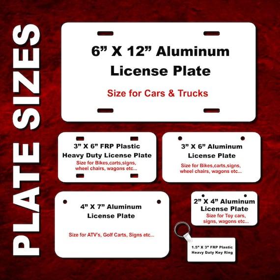 "Blue Key West Conch Republic Florida Auto Car Tag Aluminum License Plate 6/""x12/"""