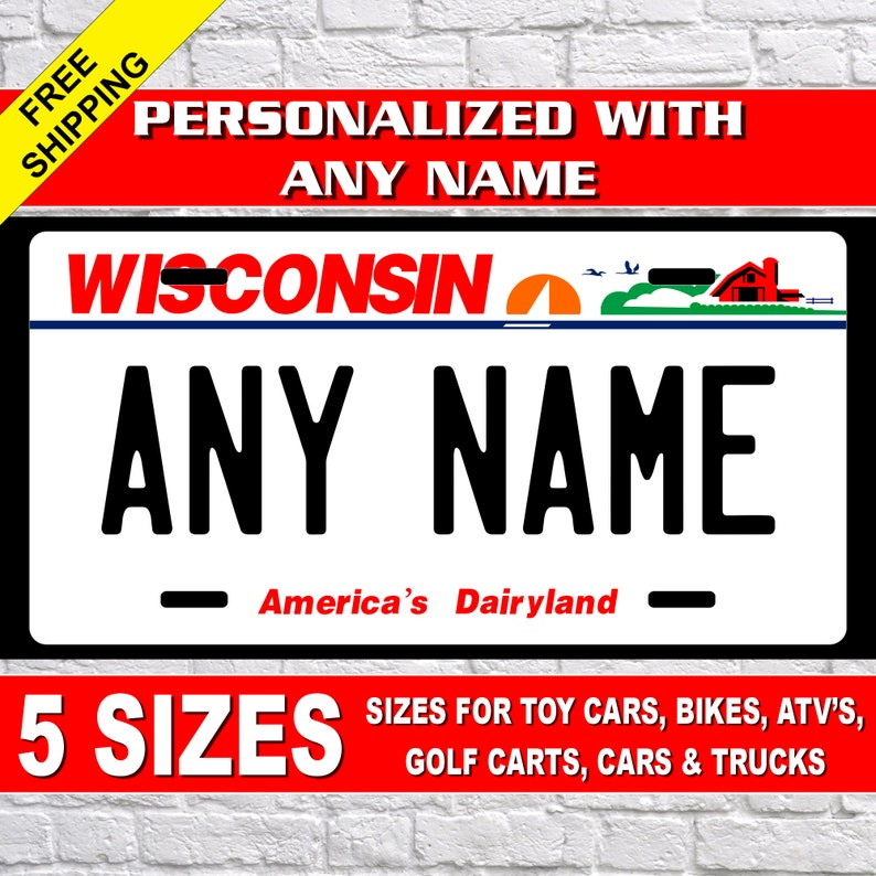 "Add Your To Photo or Image to Novelty License Plate 6/"" x 12/"" Personalized Custom"