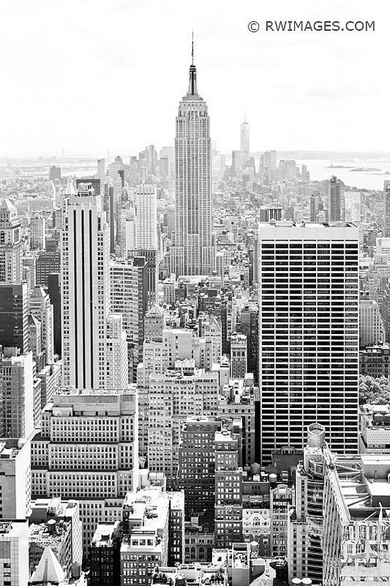 New York City Manhattan Skyline Black And White Vertical Fine Art Photo Print Unframed Canvas Framed Metal Or Acrylic Large Wall Art