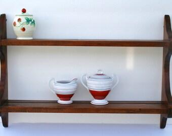 Wood shelves; plate rail shelves; knickknack shelves; bric-a-brac shelves; tchotchke shelves; cup shelves; wooden shelf & Plate shelf | Etsy