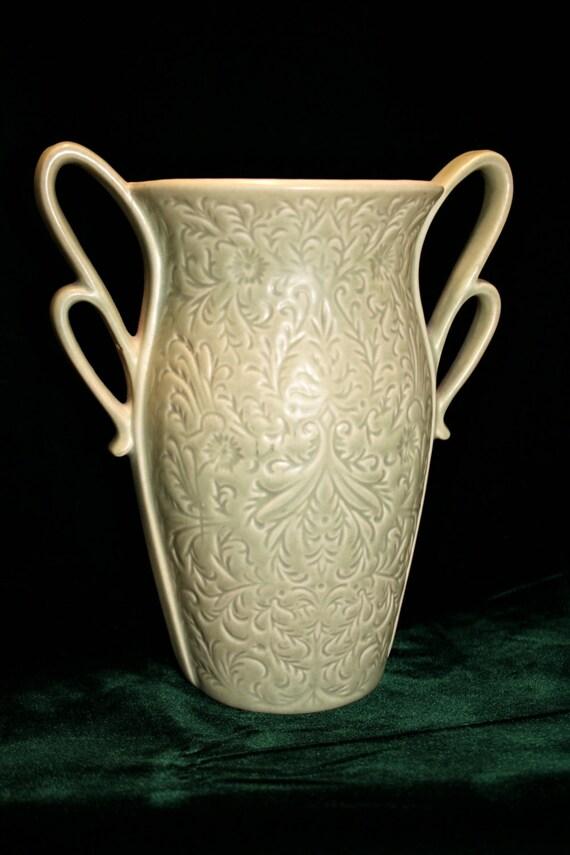 Red Wing Pottery Vase Usa Pottery Celery Green Pottery Vase Etsy