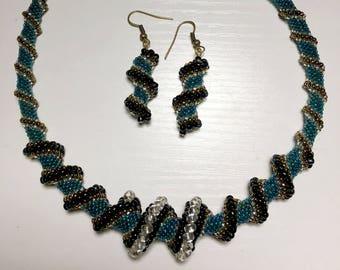 Cellini Spiral Necklace and Earrings Set