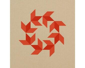 11 x 14 Barn Quilt / Silkscreen Print