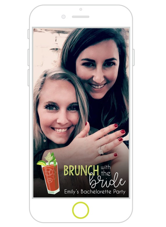 brunch with the bride snapchat filter brunch bridal shower | etsy