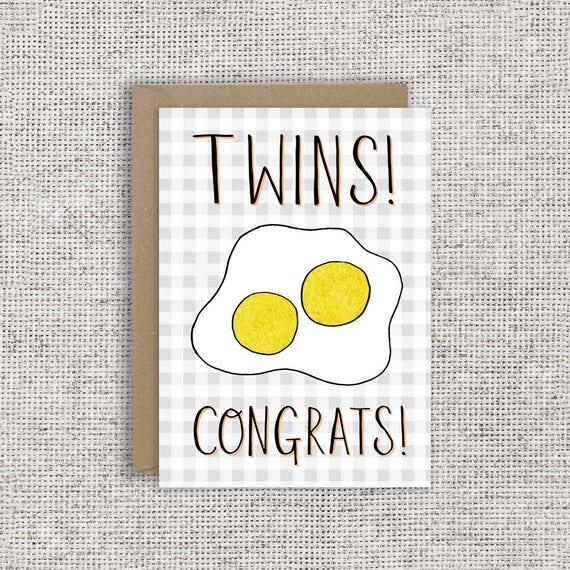 Twins! Congrats! | New baby card, twins, twin babies, new baby card, funny  baby card, pregnancy card, pregnancy, baby, birth card, expecting