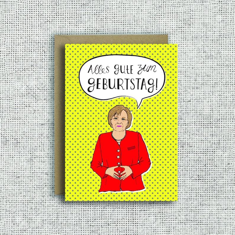 Angela Merkel Birthday Card