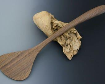 Black Walnut Wok Tool. Handmade Wood Kitchen Utensil. Wooden Spatula. Wooden Serving Tool. Wood Cooking Utensil. Housewarming Gift.
