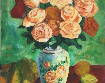 Flower Vase Copy Oil painting on Canvas