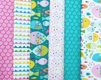Go Fish - 100% Cotton Fat Quarter Fabric Bundle