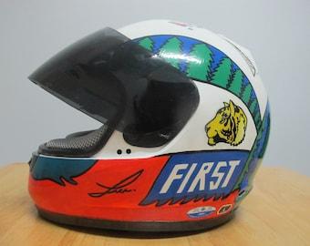 Tiger Face//First Helmet //Paint Helm//Art helmet//Tiger helmet//first helmet//sketching//acrylic colour