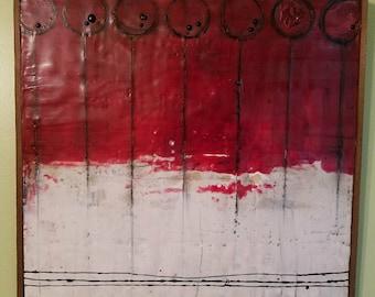Red, Encaustic Painting
