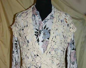 Wrap vest cotton handmade size 38-40 boho handmade new