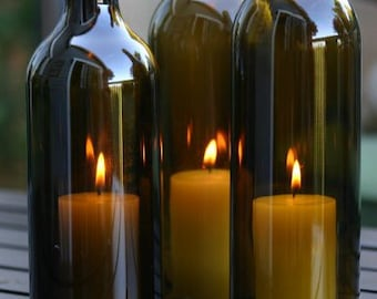 Wine Bottle Candle Etsy