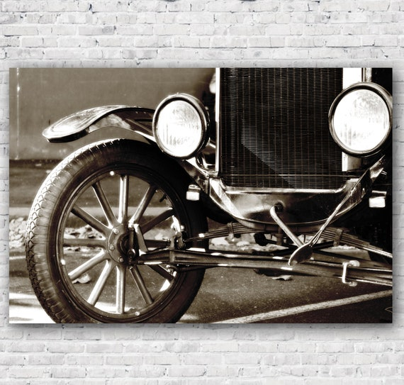 Vintage Car Photography Man Cave Industrial Antique Black Etsy