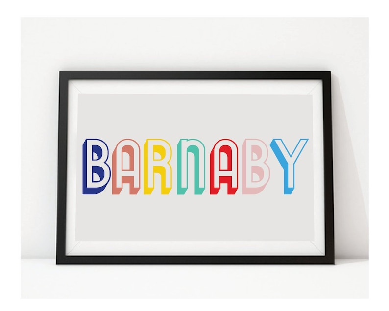 VARIOUS COLOURS Name Wall Art, Letters, Kids Room, Nursery, Bold,  Typographic, Scandi, Boy, Girl, Colourful, Bright, Fun