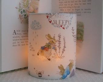 bef0cf5ab Beatrix Potter Peter Rabbit - Handmade Nursery Night Light