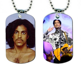 DOG TAG NECKLACE - Prince #2 Pop Music Star Singer