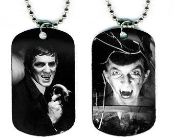 DOG TAG NECKLACE - Jonathan Frid as Barnabas Collins #1 Dark Shadows Vampire