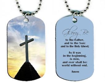 DOG TAG NECKLACE Phlebotomist/'s Prayer #SN1 phlebotomy technician Jesus god