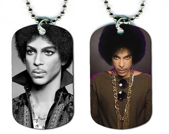 DOG TAG NECKLACE - Prince #4 Pop Music Star Singer