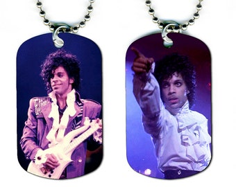 DOG TAG NECKLACE - Prince #1 Pop Music Star Singer