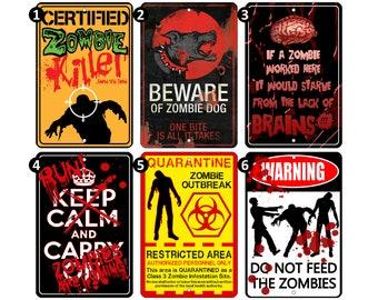 Zombies Door Sign Etsy