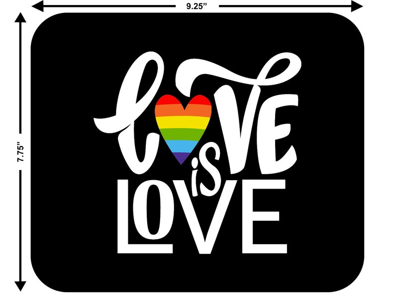 MOUSE PAD Gay #3 Lesbian Bisexual Transgender Rights LGBT Pride Rainbow Love Wins Equality Mousepad Computer Office Gift