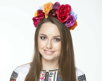 Mexican Flower Crown,Day of the Dead Headpiece,Day of the Dead, Flower Crown, Headband, Floral Crown