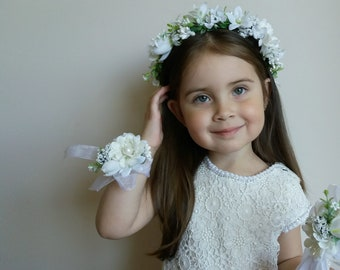 White Flower Crown Etsy
