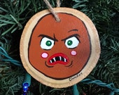 Gingerbread Man Wood Painted Ornament