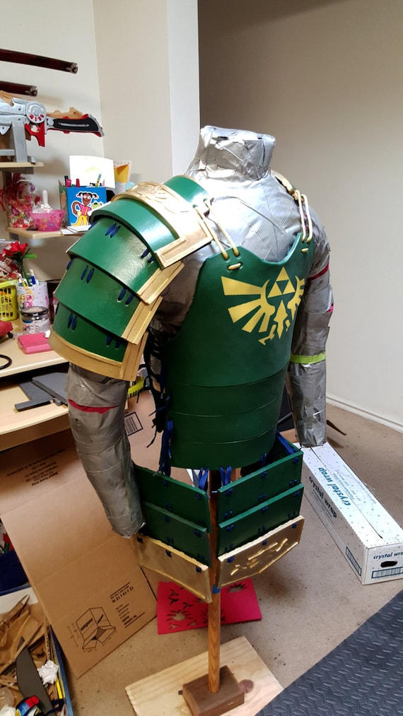Samurai Armor The Legend of Zelda Cosplay Costume Link Hyrule | Etsy