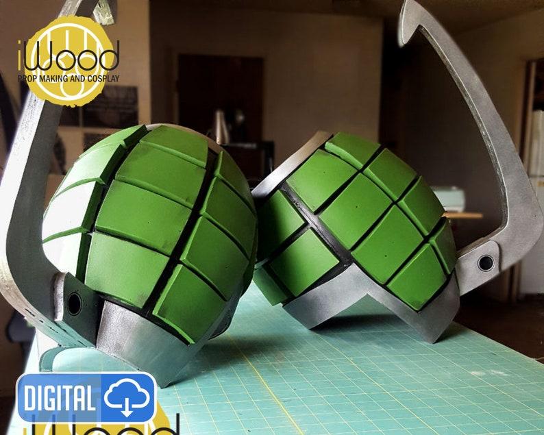 Bakugou Gauntlet Cosplay Armor Gauntlet Katsuki Kacchan Etsy
