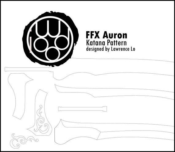 Final Fantasy X Auron S Katana Blueprint Diy Pattern