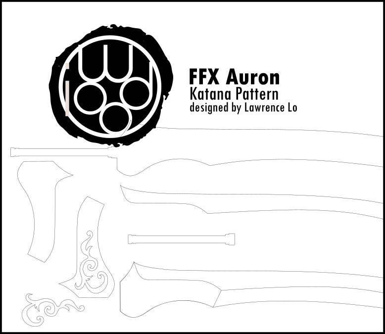 final fantasy x auron u0026 39 s katana blueprint   diy pattern