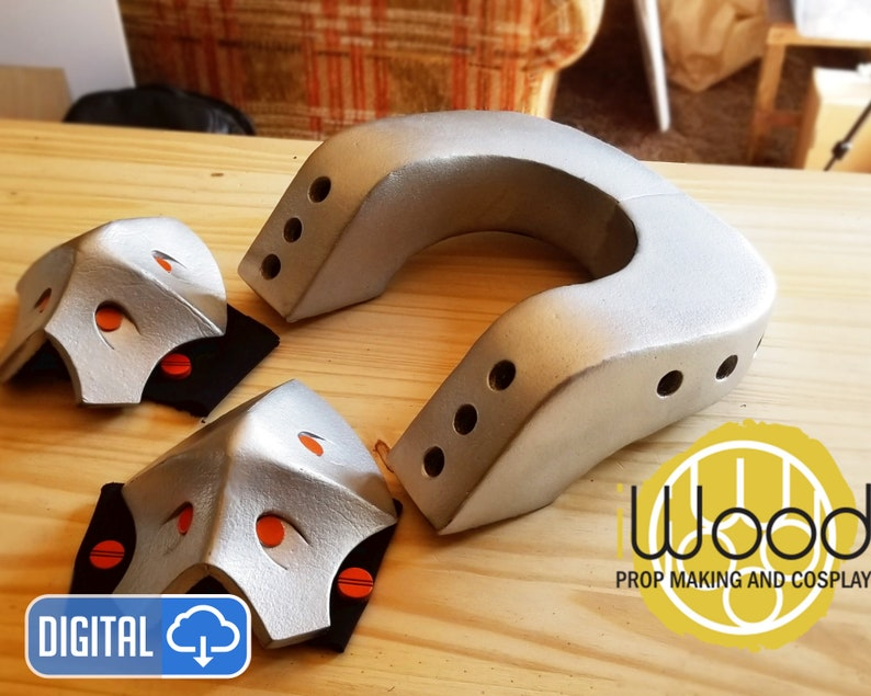 Bakugou Neck armor and knee pad EVA Foam pattern image 0