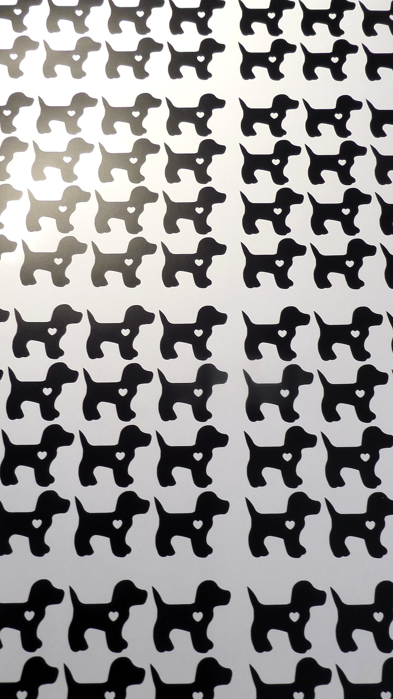 vinyl dog party decorations animal decals puppy birthday favor gold dog decals removable wallpaper 36 puppy stickers invitation seal