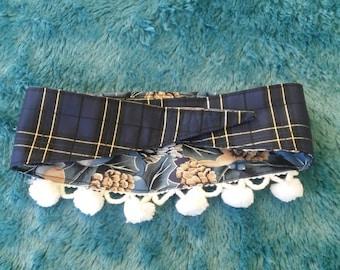 A Medium Size Tie On Dog Christmas Collar