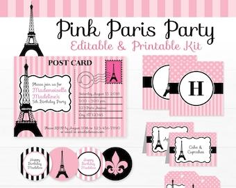 Paris Party Decorations - Paris Birthday Party - Printable Paris Party - INSTANT DOWNLOAD