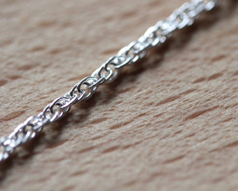Sterling Silver Fine Prince of Wales Rope Chain Free UK Postage 18 inches in Length New Price Strong with interlocking links