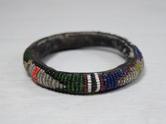 Vintage Decorative Handmade Leather Beaded Bracele