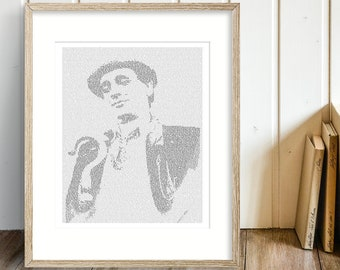 The Seventh Doctor Who Wall Art, Whovian Print Dr Who Gift for Men, Sylvester McCoy (AU)