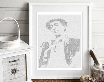 The Seventh Doctor Who Wall Art, Whovian Print Dr Who Gift for Men, Sylvester McCoy (US)