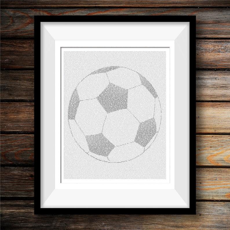 d02b71a04 Soccer Ball Poster Soccer Player Sports Wall Art Gift For