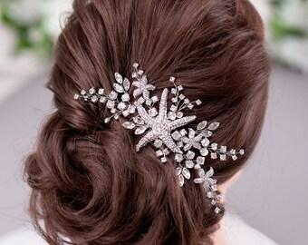Beach hair beach stone gift woman beach stone hair clip, beach hair dont care barrett beach wedding beach barrett chip hair clip