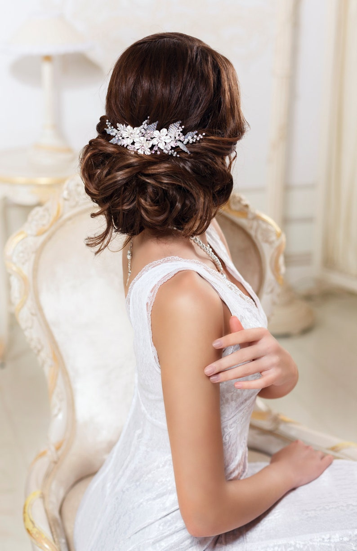 Bridal hair comb Rhinestone hair comb Crystal hair comb Bridal image 0