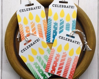 Gift Tags- Birthday Themed (look at pictures to see all 20)