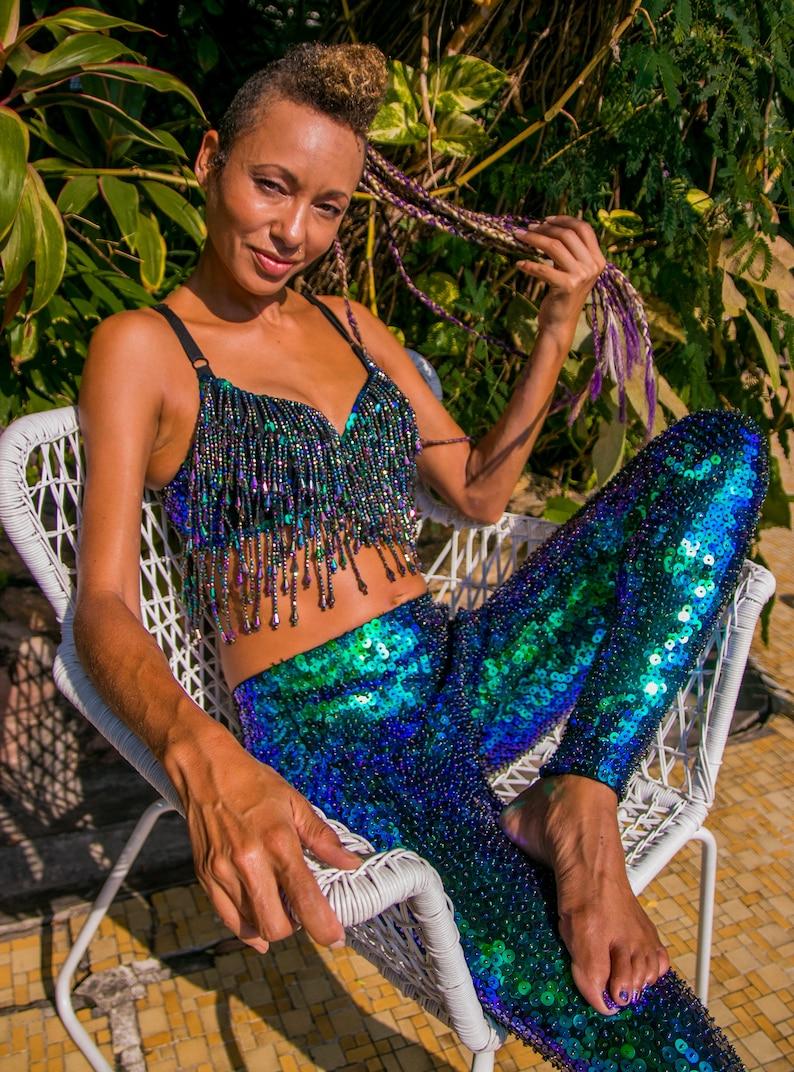 f5e417450ca92 Mermaid Bra Top Pole Dance Wear Pole Wear Belly Dance Wear