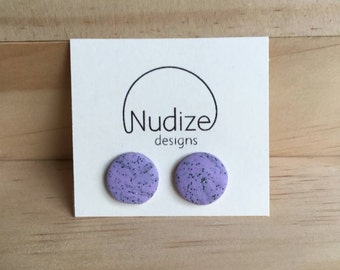 "Handmade statement stud earrings // gifts for her // ""Wild lavender"""