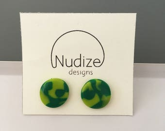 "SALE STOCK! Handmade statement dangle earrings // gifts for her // ""Green envy"""